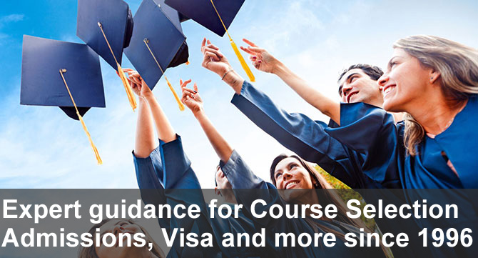 experts guidance for course selection admissions and visa