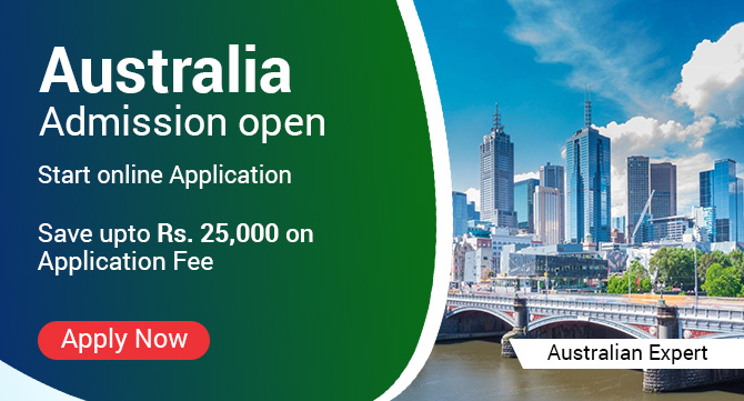 Australia Admission Open Start online Application
